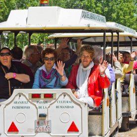 Tren turístico y visita guiada.