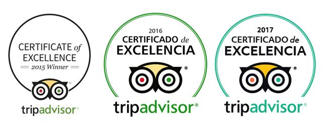 Certificado Excelencia Visit Aranjuez 2015 2016 2017