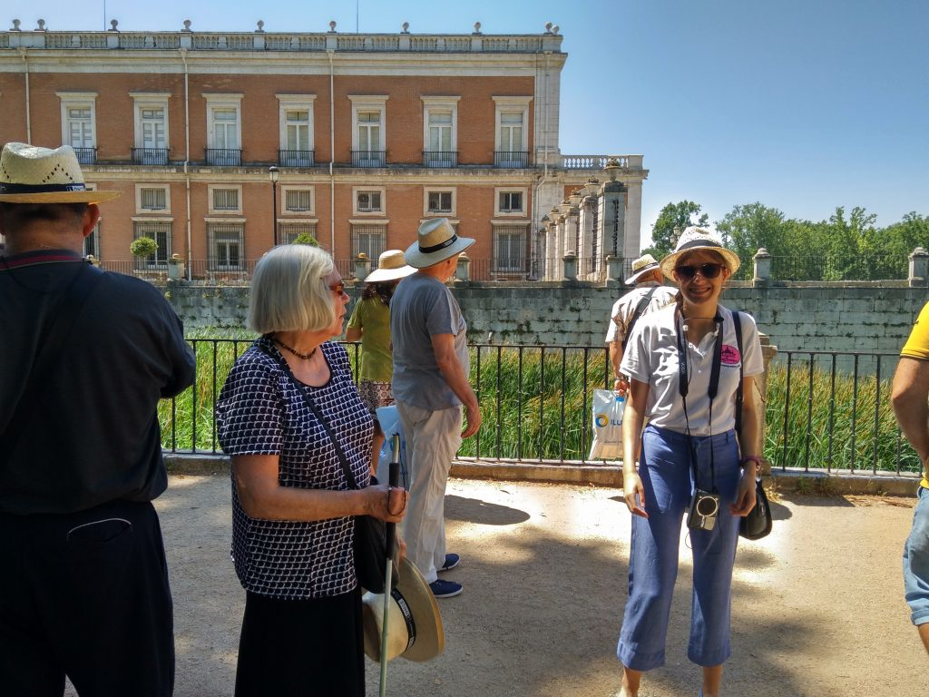 Aranjuez, Jardín de la Isla, Ana en la ruta guiada adaptada.